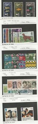Great Britain, Postage Stamp, #402-4, 835-8, 851-4, 996-9, 1137-40 + Used