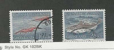 Greenland, Postage Stamp, #133, 140 Used, 1981-82 Fish