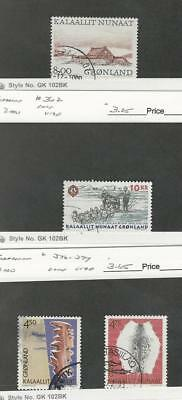 Greenland, Postage Stamp, #354, 362, 376-377 Used, 1999-2000