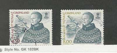 Greenland, Postage Stamp, #367, 372 Used, 2000-01