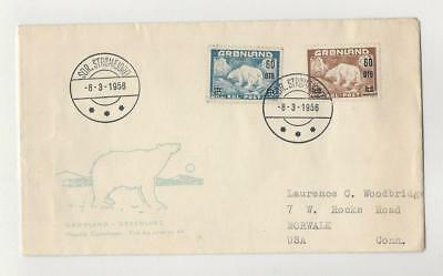 Greenland, Postage Stamp, #39-40 First Day Cover, Norwalk Conn., Polar Bear