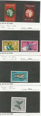Guinea, Postage Stamp, #234-5 LH, 247, C32, 253, 300 Mint NH, 1962-3