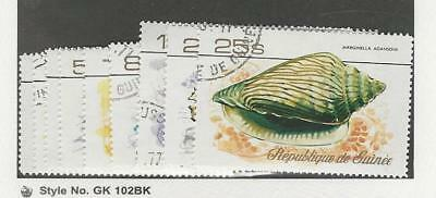 Guinea, Postage Stamp, #729-737 Used, 1977 Shells