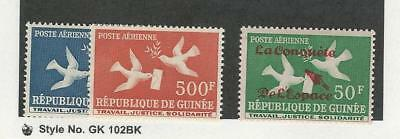 Guinea, Postage Stamp, #C17, C21, C36 Mint NH, 1959-62 Airmail