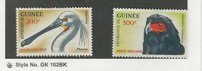 Guinea, Postage Stamp, #C42-C43 Mint No Gum, 1962 Bird