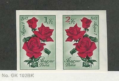 Hungary, Postage Stamp, #1384a Imperf Mint NH, 1961 Flower Rose