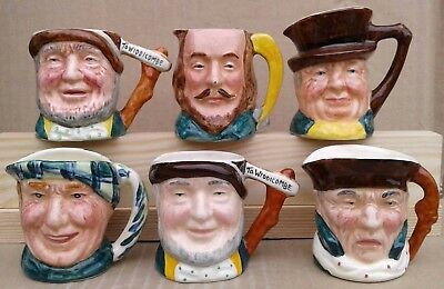 Lancaster & Sandland Miniature Character / Toby Jugs Selection.