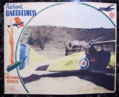 DAWN PATROL Howard Hawks WWI RFC Aviation Fighter Pilot War MOVIE LOBBY CARD