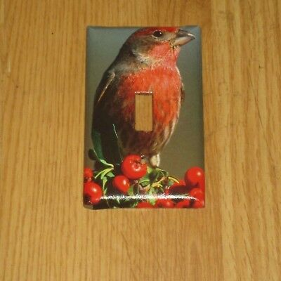 Red Faced House Finch Wild Bird Light Switch Cover Plate