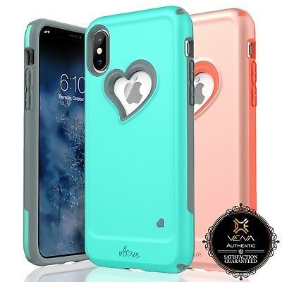 For iPhone XS X 10 10S Vena【vLove】Hybrid Shockproof Slim Bumper Cover Case Cute