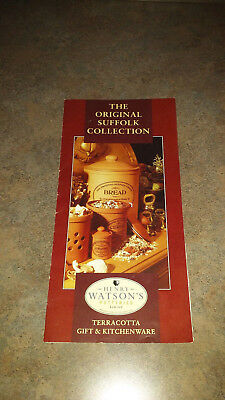 Henry Watson's Potteries Limited Terracotta Gift & Kitchenware Pamphlet 1995