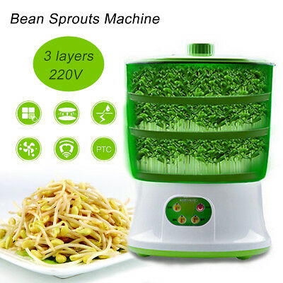 Intelligent Bean Sprouts Machine Hydrocirculating Seeds Grow Organic Food Auto