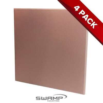 4x Fiberglass Panel - Studio Acoustic Treatment - Beige Fibreglass - 60x60cm