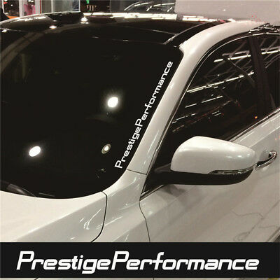 1PC JDM Prestige Performance Hellaflush Windshield Vinyl Car White Sticker Decal