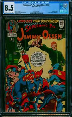 Superman's Pal Jimmy Olsen # 135  Darkseid app ; Adams !  CGC 8.5 scarce book !