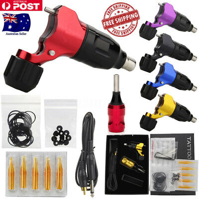 Electric Rotary Tattoo Machine Liner Shader Power Motor Needles Handle Grips Kit