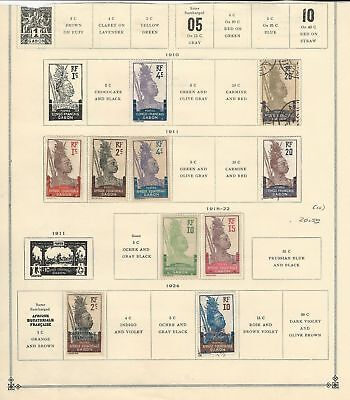 Gabon Collection 1910-1933 on 3 Scott International Pages