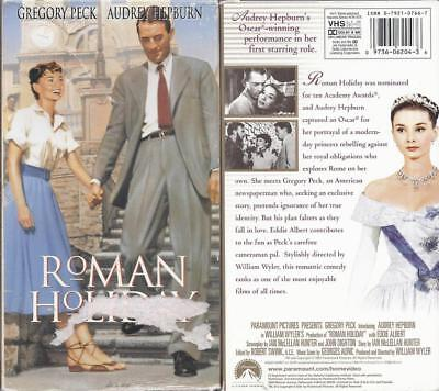 Vhs: Roman Holiday.....gregory Peck-Audrey Hepburn.....new