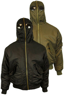 Mens Location Galactic Airmans Waterproof Goggle Jacket Military Hooded Coat New