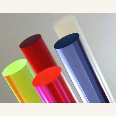"Acrylic Lucite Rod Dowel - Two 1/2"" (12.7mm) x 24""(610mm)"