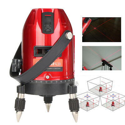 Waterproof 3D Self-Leveling 360° 5Line 6Point Rotary Laser Level Measure Tool