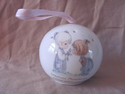 """Precious Moments  POMANDER  PORCELAIN """"PRECIOUS MOMENTS FILLED WITH LOVE"""""""