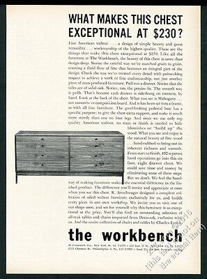 1960 Workbench modern Artschwager walnut chest of drawers photo vintage print ad