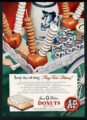 1948 A&P Jane Parker donuts doughnuts color photo vintage print ad