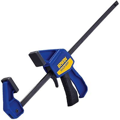 "Irwin 300mm 12"" Quick Grip Mini Bar Clamp Woodworking 63kg Clamping Force"
