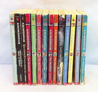 "Lot of 14 1st Printings Vintage Paperback ""Animorphs"" Young Adult Books,Collect"
