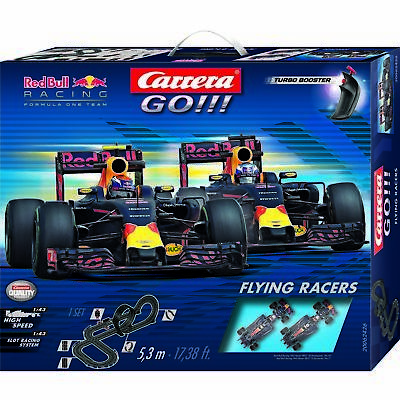SALE Carrera Go Flying Racers Red Bull Slot Car Set NKT