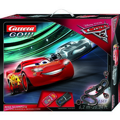 SALE Carrera Go Disney Cars 3 Need to Compete Slot Car Set NKT