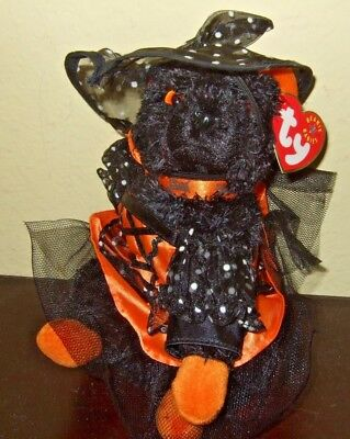Ty 2001 FRADY CAT Witch Black  Beanie Babies Halloween PLUSH  TAG RARE!