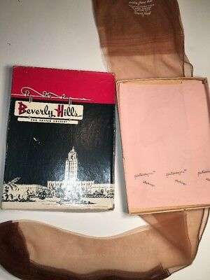 Beverly Hills Hosiery Box Vintage Fashion Clothing With One Pair Of Hose