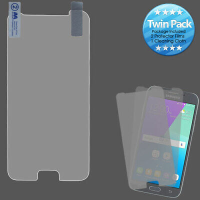 For Samsung Galaxy J3 Eclipse Mission Screen Protector Twin Pack Phone Cover