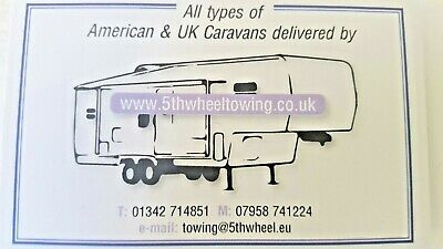 5th Fifth  wheel RV, caravan, boat & trailer towing service. Local, UK, Europe