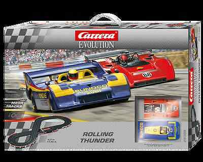 SALE Carrera Evolution Rolling Thunder Porsche Slot Car Set NKT