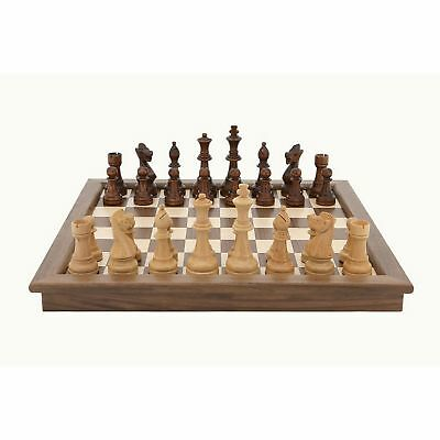 SAVE ON Dal Rossi Walnut Chess Set Folding 18 inch NKT