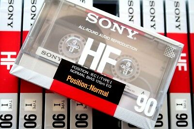 Sony Hf 90 Normal Position Type I Blank Audio Cassette - Japan 1988