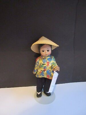 "Vtg Madame Alexander Chinese Doll 8"" INTERNATIONAL w Wrist Tag Restrung"