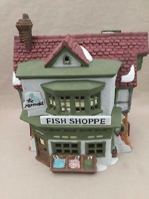 Department 56 Dickens' Village Series #59269 ~ The Mermaid Fish Shoppe