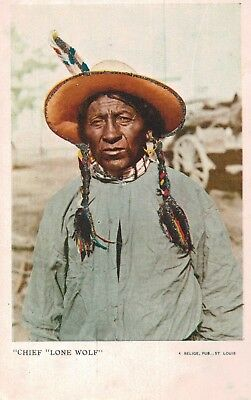 "Native American,Kiowa Indian Chief ""Lone Wolf"",Great Plains,c.1901-06"