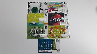 Starbucks Gift Card lot 2014 Tribute Class of Admin´s Day Mother´s Father´s