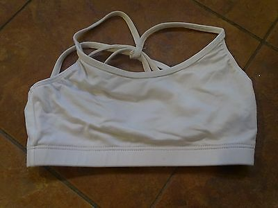 WHITE MOTIONWEAR DANCE BRA TOP RUNNING ATHLETIC adult petite