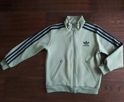 Boys Adidas  Zip Up Jacket Tracksuit Top Age 8 Years/ GREEN