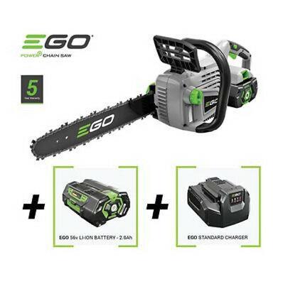 "Ego Chainsaw 56V Cordless Rechargable 14 "" Cs1400E + Battery & Charger"