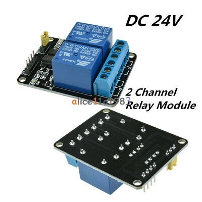 DC24V 2 Channel 2CH Relay Module With Optocoupler For PIC AVR DSP ARM Arduino