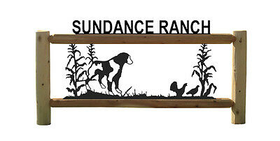 Brittany - Dogs - Ruffed Grouse Hunting - Cedar Log Outdoor Signs
