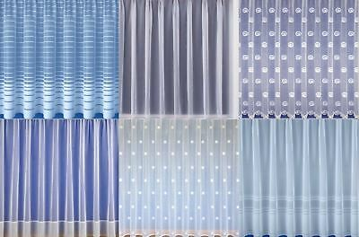 White Net Curtain Modern Sheer Net Curtains Choose your Design Sold by the Metre