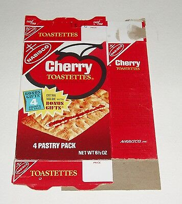 1971 Nabisco Toastettes Box - Cherry - pop-tarts type food product